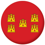 Poitou-Charentes Province Flag 58mm Button Badge